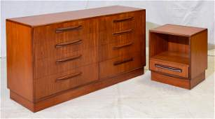 Mid Century Chest & Night Stand - Fresco by G-Plan