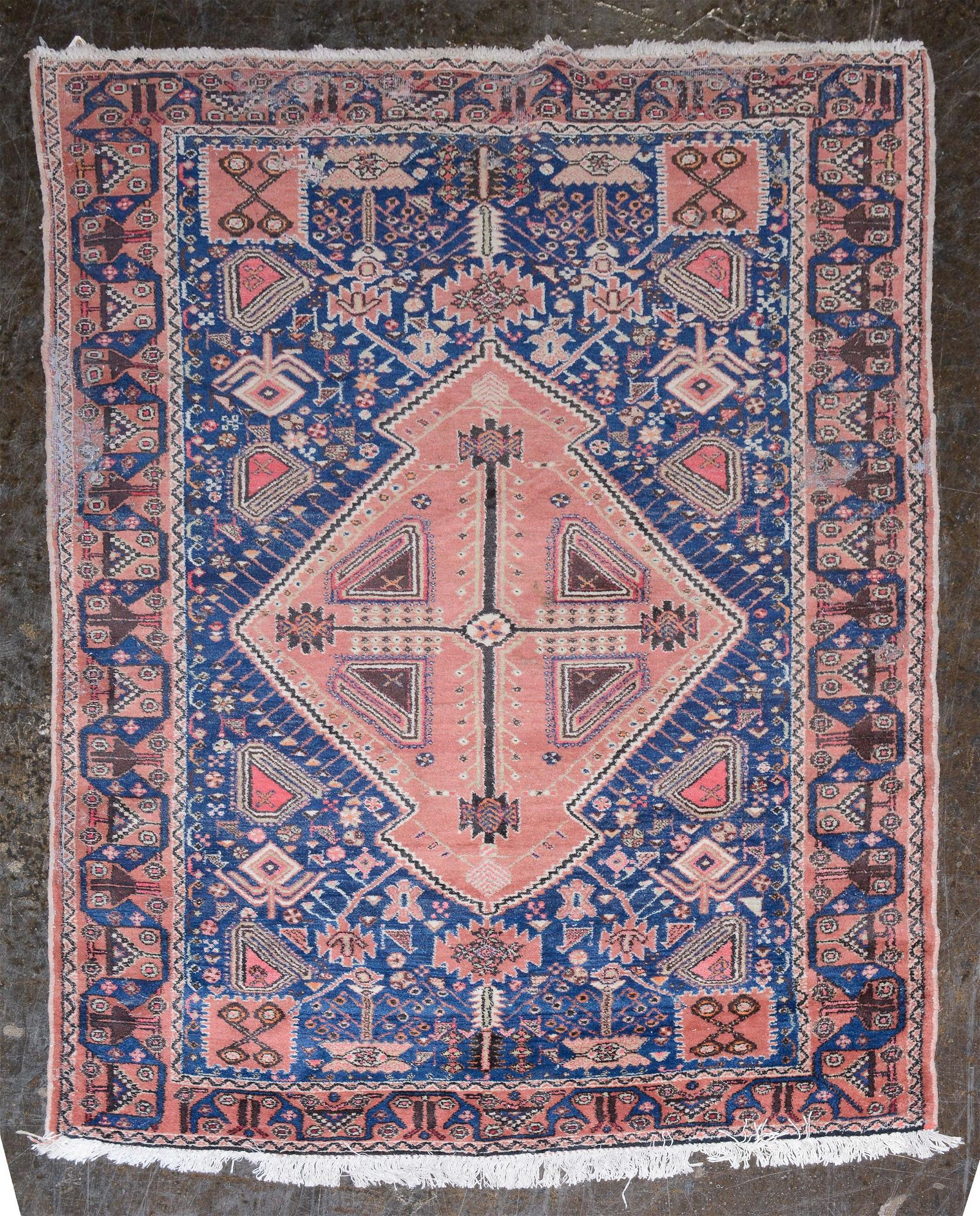 """Afshar Wool Hand Knotted Rug 6'2"""" x 4'4"""""""