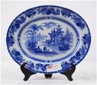 "Flow Blue Platter - Royal Doulton ""Madras"""
