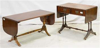 British Drop Side Coffee Table & Drop Side Table
