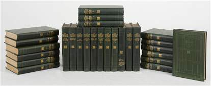 27 Vintage books - Charles Dickens Green Art Nouveau