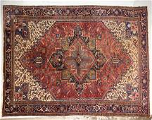 Large Hand Knotted Room Size Rug - Red / Navy