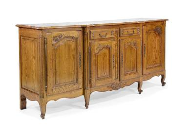 Country French Oak Parquet Top Sideboard
