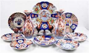 11pcs Assorted Imari Plates & Vases