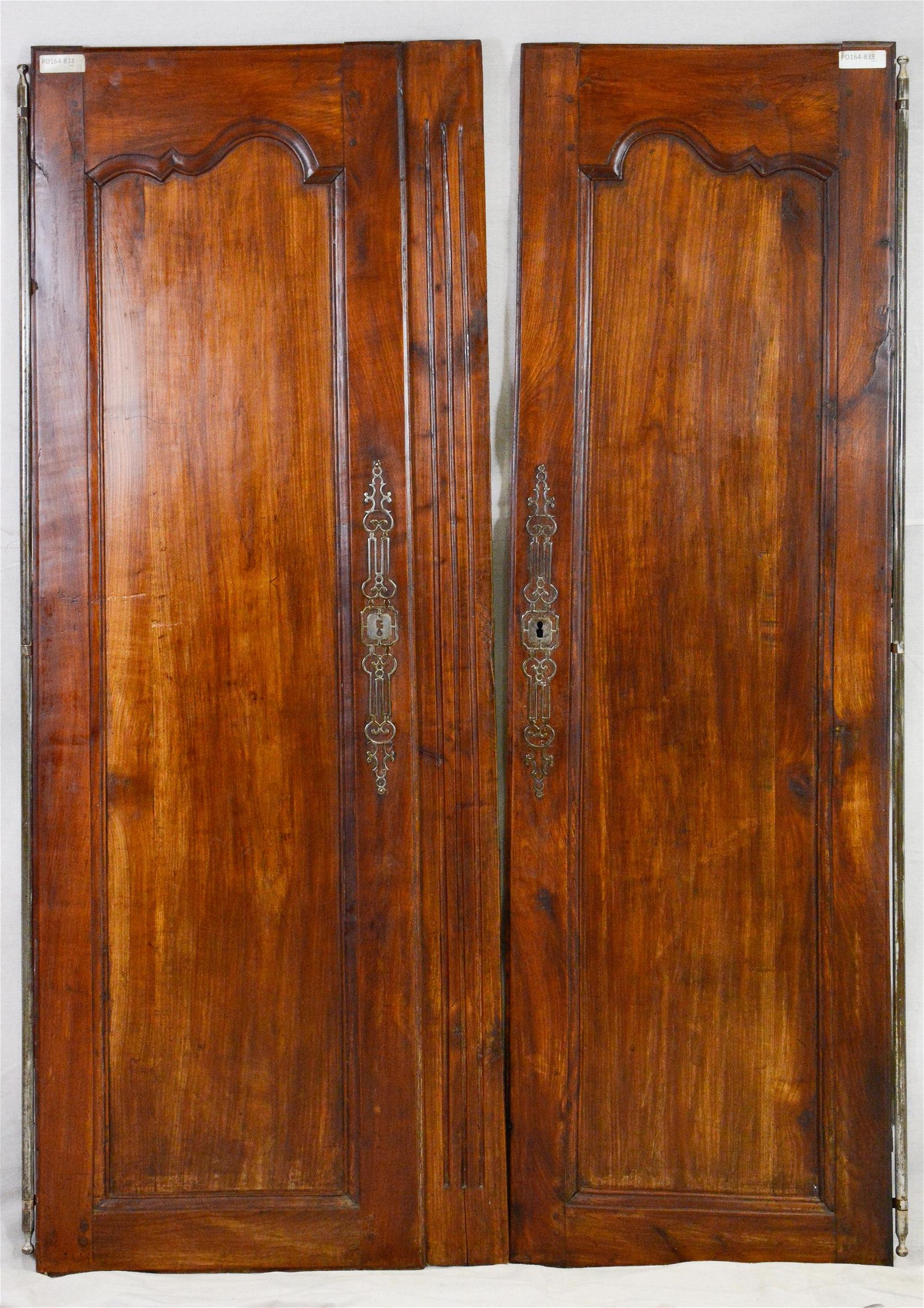 Pair French Louis XV Style Armoire Doors in Cherry 1