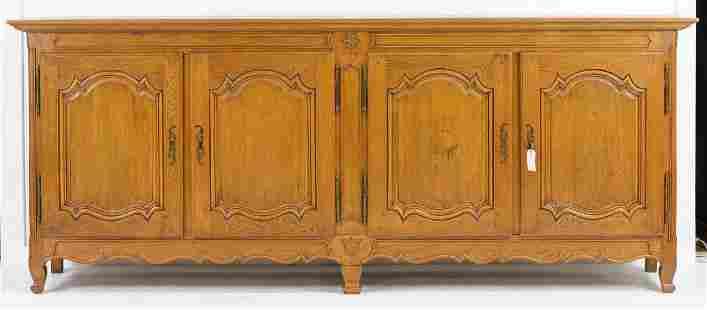 Period French Oak 4 Door Sideboard / Server