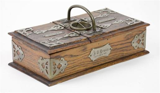 British Oak Cigar / Cigarette Box