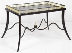 Henredon Tea Table With Gallery & Metal Base
