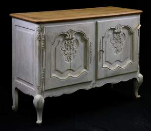 Country French Painted Base 2 Door Cabinet / Cupboard