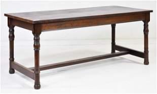 Oak Farm House / Writing Table With Turned Legs