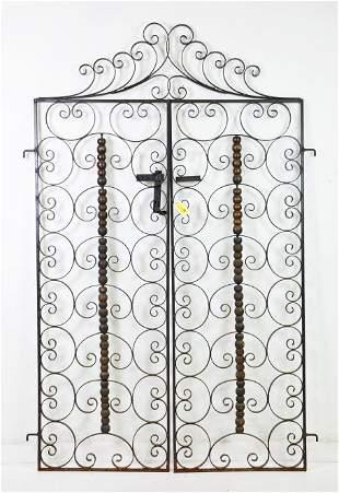 Pair Scroll Work Iron Gates / Doors