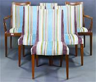6 Mid Century Modern Upholstered Dining Chairs