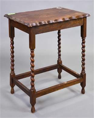 Oak Barley Twist Occasional / Lamp Table