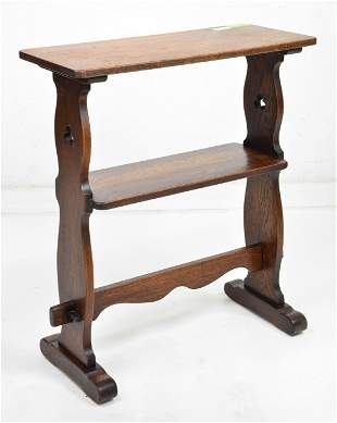 Small English Oak 2 Tier Stand / Table