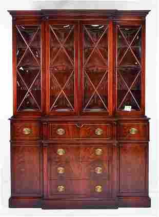 Large American Mahogany Secretary Bookcase