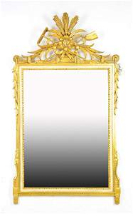 Carved Gold Gilt French / Italian Mirror c.1900