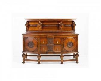 Carved Oak Jacobean Server / Sideboard