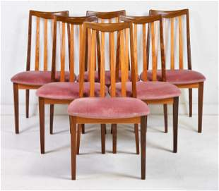 "6 Mid Century Modern ""Fresco"" Dining Chairs By G-Plan"