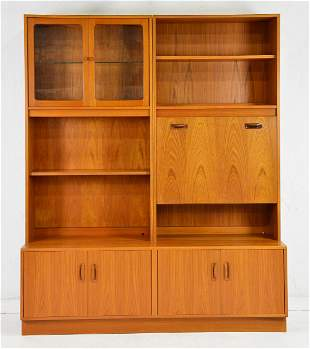 Mid Century Modern G-Plan Bookcase / Wall Unit / Desk
