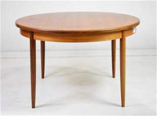 Round Mid Century Modern Teak Dining Table By G-Plan