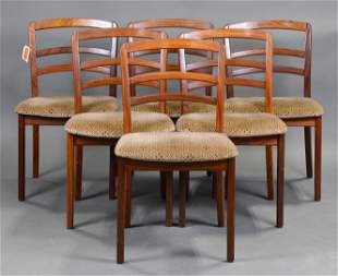 6 Mid Century Curved Ladder Back Chairs by Gplan