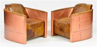 2 Aviator / Spitfire / Blackhawk Style Copper Chairs
