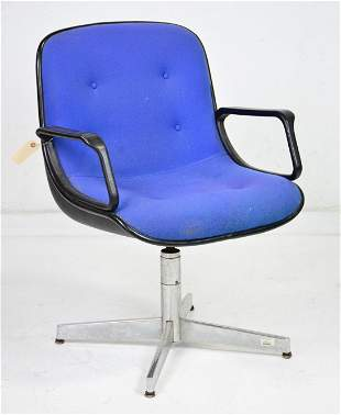 American Mid Century Modern Blue Office Chair