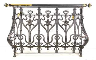 Large French Painted Iron Gate / Railing #1