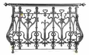 Large French Painted Iron Gate / Railing #2