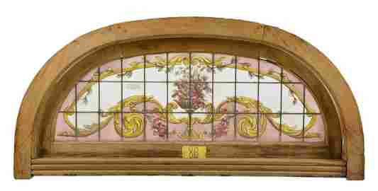 Arch Top Vitraux / Stained Glass Window