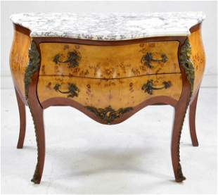 Marble Top 2 Drawer Chest / Commode #3