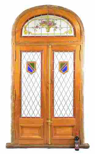 Arch Top Vitraux / Stained Glass Door
