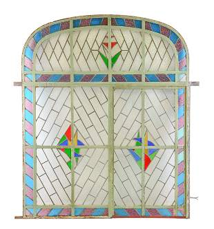 Large Multi Color Vitraux / Stained Glass Panel #2