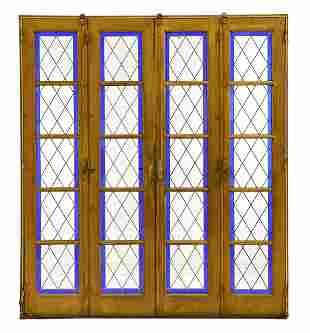 Large 4 Door Blue Vitraux / Stained Glass Door
