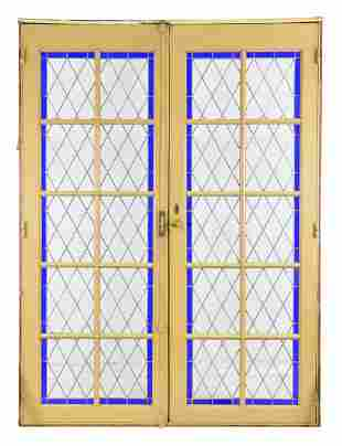Large 2 Door Blue Vitraux / Stained Glass Door