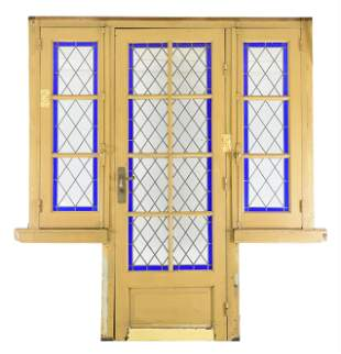 Large 3 Door Blue Vitraux / Stained Glass Door