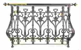 Large French Painted Iron Gate / Railing #1