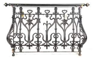 Large French Painted Iron Gate / Railing #2