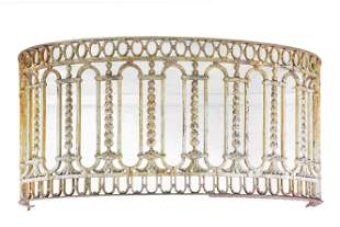 Large Curved Painted French Style Iron Railing