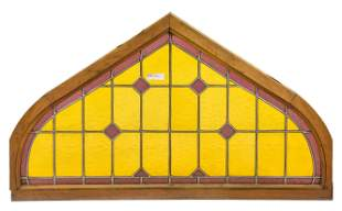 Arch Top Vitraux / Stained Glass Window - Yellow #1