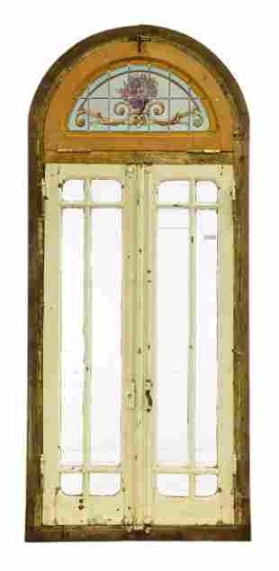 Large Arch Top Double Paned Door