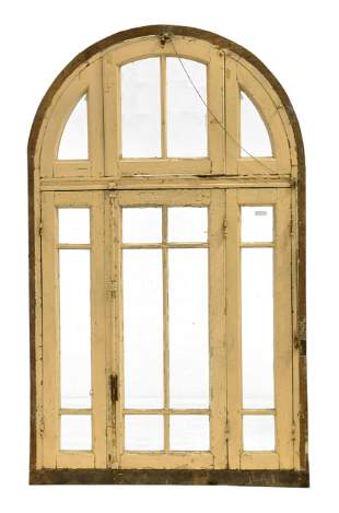 Large Arch Top Painted Door With Drop Front Top