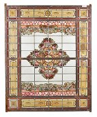 Large French Style Painted Window / Panel