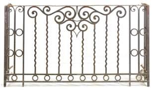 Large French Style Iron Gate / Railing #1