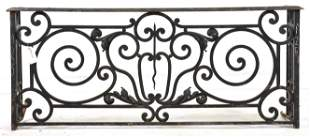 Low French Style Scrolled Iron Gate / Railing #1
