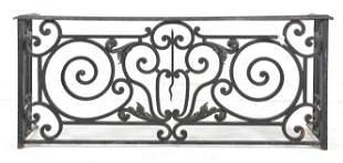Low French Style Scrolled Iron Gate / Railing #3