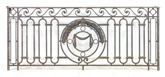 Large Iron Gate / Railing With Wave Pattern