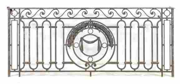 Large Iron Gate / Railing With Wave Pattern