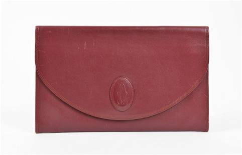 Cartier Flap Evening Clutch in Smooth Leather