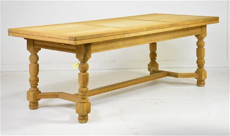 Large Hand Bleached Draw Leaf Farm Table